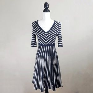 Boden Navy and Cream Stripped Sweater Dress